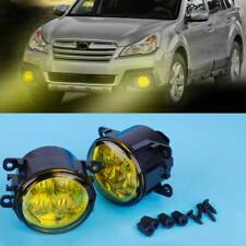 2xHighlighted LED Fog Light with Yellow Lens 990e0-65j36-000 Fit Honda Subaru