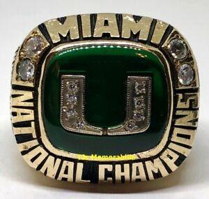 1991 U OF MIAMI HURRICANES NATIONAL CHAMPION CHAMPIONSHIP RING 10K HERFF JONES