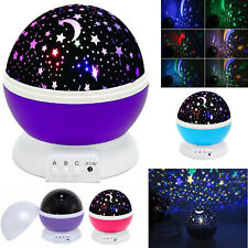 Constellation Night Light Baby Kids Lamp Moon Star Sky Projector Rotating Cosmos