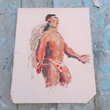 Listed Artist Eleanor Hill Unsigned Acrylic On Paper Painting
