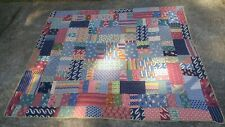 "Vintage South Alabama Hand-Sewn Quilt 1930s-40s 75""X65"""