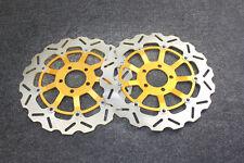 Gold Motorcycle Front Brake Disc Rotors For Kawasaki ZX12R A1/A2/B1-B3 2000-2004