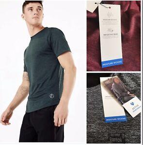 M&S Active Sports Gym Stay Dry Crew Neck Slim fit T-Shirt 3 Colours L-S -M