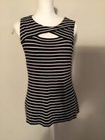 Vince Camuto Women's Size M Medium Tank Top Sleeveless Striped