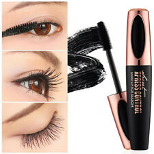 4D Seda Fibra Pestañas Máscara Extensión Maquillaje Impermeable Negro Dulce
