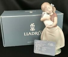 "Lladro Figurine My Sweet Little Puppy ~ Girl & Dog #8531 Box/Cert. 7 3/4"" Tall"