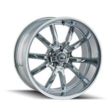 Ridler 650 20x10 +0 Chrome Wheel 5x120.7 5x4.75 (QTY 2)