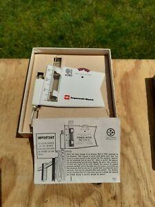 Vintage 70's Ingersoll-Rand Tin Metal Rain Gauge Collection Tube Recorder Dial