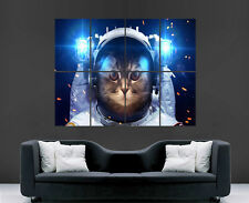 CAT ASTRONAUT POSTER FUNNY SPACESUIT SPACE PRINT GIANT WALL ART PICTURE PRINT