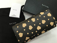 Paul Smith TRI FOLD PURSE Brown with Stone colour hearts Made in Italy