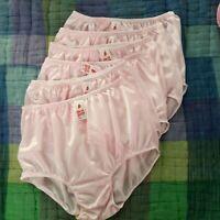 """6 Light Pink Underwear Size XL Women &Man Silky Nylon Soft Briefs Hip 36""""-42"""" #2"""
