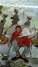 Norman Rockwell Print Sunday Morning 15x12 inch 1972 Curtis, Donald Art Co.