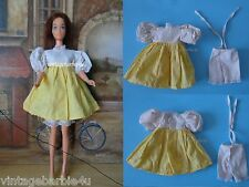 Vintage Dress & Bloomers Yellow White / Barbie Doll Babs Bild Lilli Stacey Jamie