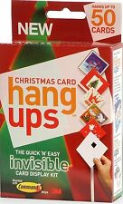 Christmas Adhesive Velcro Card Hang up Display Kit Invisible Holder for 50 Cards