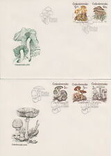 Czchoslovakia FDC + stamps 1989 Edible mushrooms