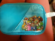 Super Mario 3Ds Travel Zip case with game slots, screen protectors and 2 stylus.