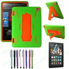 For Kindle Fire HD 7 2014 Heavy Duty Hybrid PC / TPU Armor Case With Kickstand