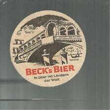 SOTTOBICCHIERE BEER COASTER MATS BIERDECKEL BIRRA BECK'S BIER  96 VENEZIA