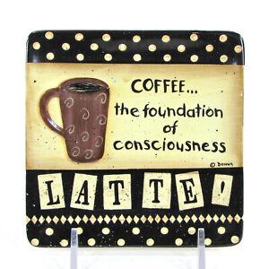 "MWW Market COFFEE - FOUNDATION CONSCIOUSNESS 4.5"" Mini Plate Latte Donna Atkins"