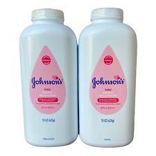 2 Johnson's Baby Powder Talco Para Bebes Paraben Free 15 oz  J & J Pink Label