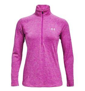 2021 Pink Under Armour Ladies Tech Half Zip Twist Top UA Gym Training Runnning
