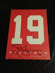 NINETEEN - A SALUTE TO STEVE YZERMAN BOOK ~ SIGNED!! BOOK Very Nice Condition