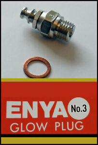 5x ENYA Glow Plug (std) Number 3 (hot) *UK STOCK*