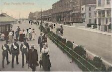 Worthing postcard (postally unused) - West Parade (sea front) - c. 1900-1910