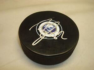 Nathan Beaulieu Signed Buffalo Sabres Hockey Puck Autographed 1A