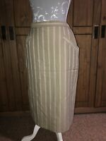 Jaeger Ladies Size 16 Vintage Cream Stripe Skirt On Trend Smart