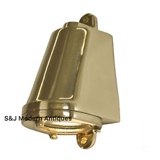Davey & Co Industrial Bulkhead Wall Light Vintage Antique Ship Lamp Brass Gold