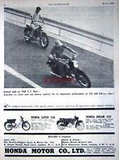 1960 HONDA 'Dream 250cc & Super Cub 50cc' Motor Cycles AD - Vintage Print ADVERT