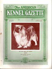 Vintage American Kennel Gazette January 1930 Pekingese Cover