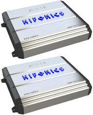 2) Hifonics ZXX-600.4 600W 4-Channel Class A/B Bridgeable Car Power Amplifier
