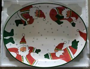 Santa Claus Ceramic Seasonal Table Décor Serving Pieces For Sale Ebay