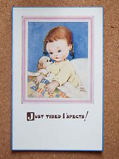 R&L Postcard: Mabel Lucie Attwell, Valentine's 1545, Childrens, Crying Tired