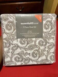 Essential Home 3 Piece Sheet Set (Twin)