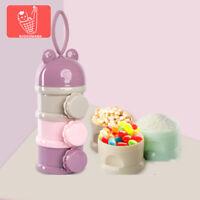 Baby Milk Powder Dispenser Portable Food side open Container Storage Feeding Box