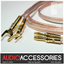 2m CUSTOM MADE Terminated 2.5mm² Speaker Cable (BP1 Banana Plugs & SP1 SPADES)