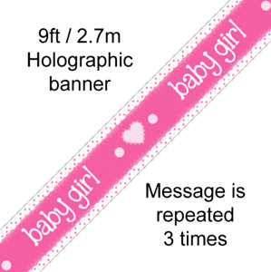 Baby Shower Its a Girl New Baby Gender Reveal Banner Pink Baby Party Decorations