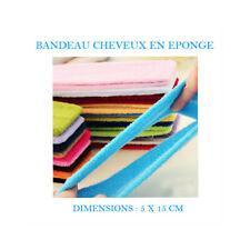 BANDEAU CHEVEUX EPONGE ELASTIQUE MAQUILLAGE ESTHETIQUE VISAGE COIFFURE CHE801