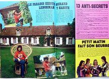 GERARD LENORMAN  => coupure de presse 2 pages 1974 / CLIPPING