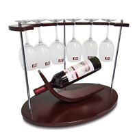 Foldable Bar Kitchen Cabinet Hanging Wine Glass Rack Stemware Holder Storage