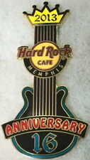 Hard Rock Cafe MEMPHIS 2013 16th Anniversary PIN Guitar Elvis King Crown #75061