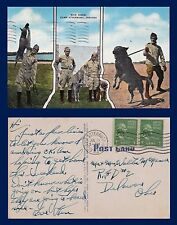 US MILITARY POLICE DOGS CAMP ATTERBURY INDIANA POSTED 1953 TO DELAWARE OHIO