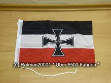 Fahnen Flagge Deutsches Reich Gösch der Schiffe Bootsfahne Tischwimpel - 30x40cm