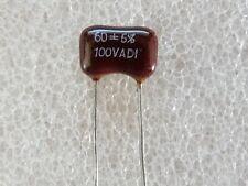 2 condensateurs Silver Mica 60pF 100V 5%