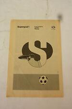 ADVERTISING PUBBLICITA'  SUPERGOAL! SUPERGA calzatura sportiva - 1972