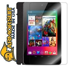 ArmorSuit MilitaryShield Google Nexus 7 Screen + Black Carbon Fiber Skin! New!