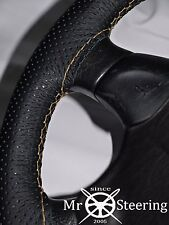FITS VAUXHALL VECTRA B PERFORATED LEATHER STEERING WHEEL COVER BEIGE DOUBLE STCH